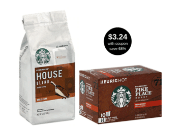 ☕ HOT! Starbucks Coffee as low as $3.49 a Bag or $3.24 a Box at Safeway, Save 68%