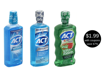 ACT Oral Rinse Coupon Just $1.99 at Safeway | Save up to 67%