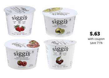 Siggi's Icelandic Yogurt As Low As $.63 at Safeway, Save 71%