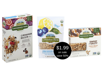 Organic Cascadian Farm Granola Bars and Cereal on Sale at Safeway, Pay $1.99 Per Box