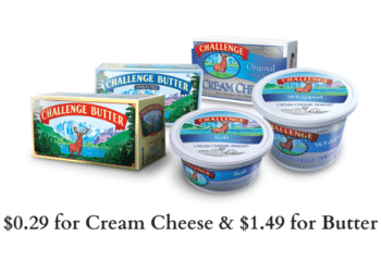 HOT Challenge Dairy Deals at Safeway = $0.29 for Cream Cheese & $1.49 for Butter