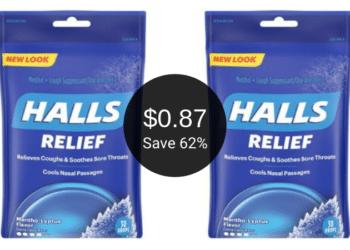 Halls Cough Drops Coupon & Sale at Safeway = Only $0.87 Per Bag | Save 62%