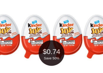 Kinder JOY Chocolate Eggs Coupon & Sale at Safeway = $0.74 Per Candy