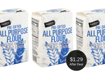 Signature SELECT Flour Coupon at Safeway = $1.29 Per Bag