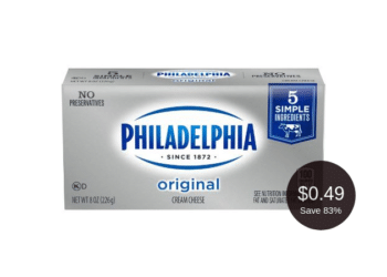 HOT Philadelphia Cream Cheese Coupon Deal = as Low as $0.49   Save up to 83%