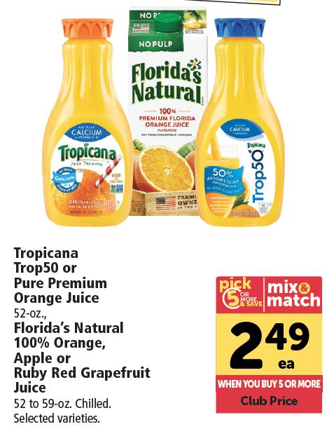 tropicana Orange Juice Sale