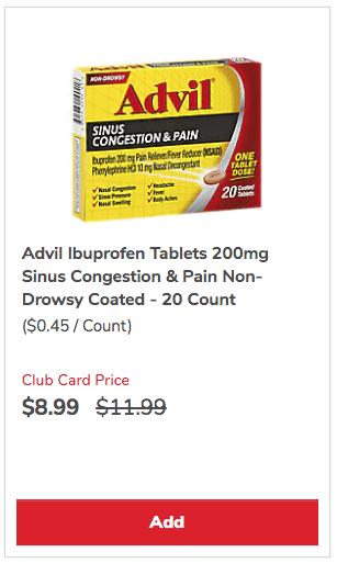 Advil_Sinus_Congestion_Sale