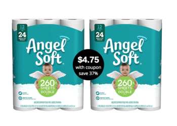 Angel Soft Bath Tissue 12 Rolls Just $4.75 With Coupons at Safeway