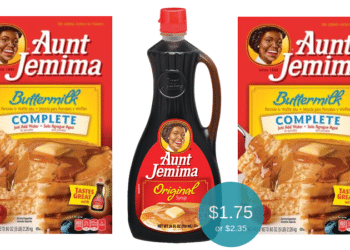 Aunt Jemima Pancake & Waffle Mix for $1.75 or Syrup for $2.35 at Safeway
