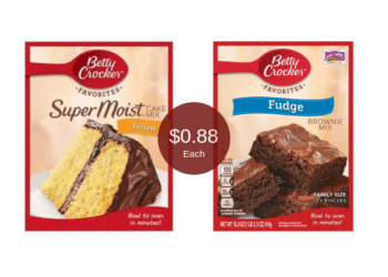 Betty Crocker Favorites = $0.88 for Brownie or Cake Mix at Safeway