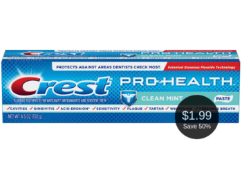 Crest Pro-Health Toothpaste on Sale at Safeway, Pay $1.99 After the Deal   Save 50%