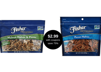 HOT!  Get Fisher Pecans or Walnuts 10 – 16 oz for Just $2.99 at Safeway, Save $9.00