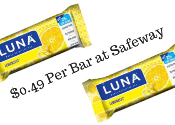 New LUNA Bar Coupon and Sale at Safeway, Pay Just $.49 Each, Save 65%