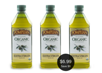 Pompeian Organic Extra Virgin Olive Oil for Only $6.99 at Safeway | Save $9.00