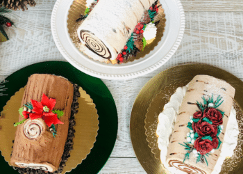 Holiday Yule Log Cake From Safeway Bakery