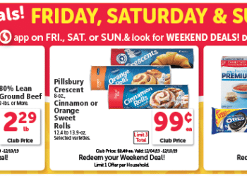 $.66 Pillsbury Baked Goods, Cheap Ground Beef and $1.99 Nabisco Family Size Crackers and Cookies at Safeway