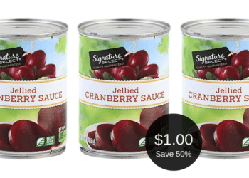 Signature SELECT Cranberry Sauce for $1.00 After the Sale | Save 50% Easily