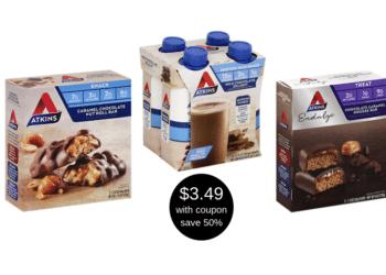 Atkins Shakes, Treats and Snack Bars Just $3.49 at Safeway (Reg. $6.99)