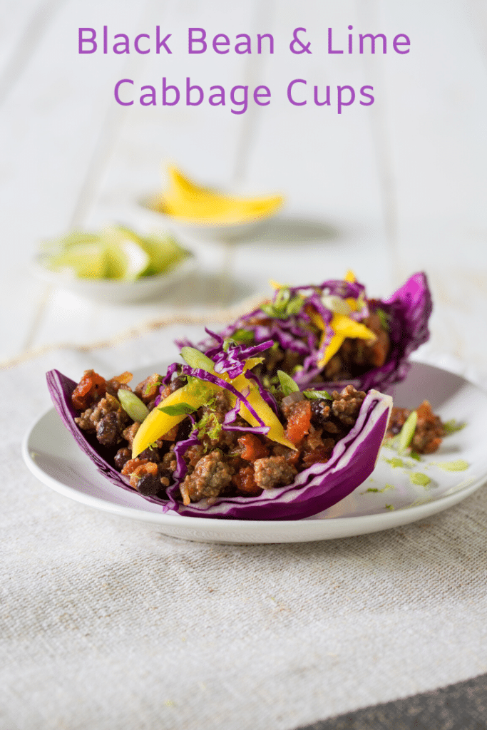 Black Bean & Lime Cabbage Cups