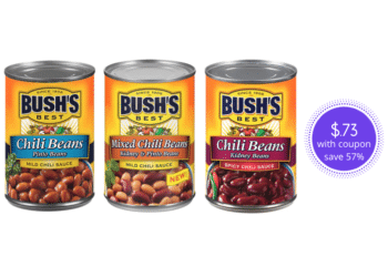 NEW Bush's Chili Beans Coupon is Available, Pay $.73 Per Can at Safeway