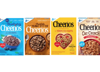 99¢ for Cheerios Oat Crunch, Blueberry Cheerios, Very Berry Cheerios, Peanut Butter Cheerios & More at Safeway