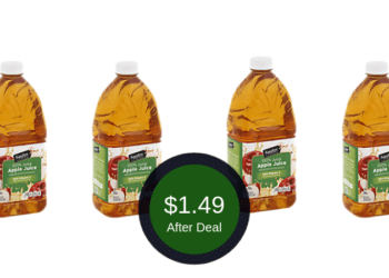 Signature SELECT Cider & Apple Juice Coupon = $1.49 Per Bottle at Safeway