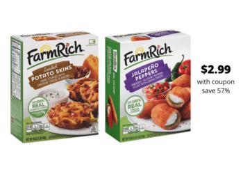 New Farm Rich Coupon and BOGO Sale = Hot Deals for Super Bowl Snacks
