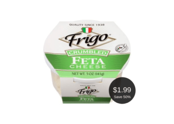 Save 50% on Frigo Feta Cheese at Safeway, Pay Just $1.99 After the Deal