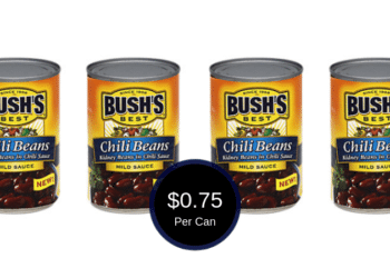 NEW Bush's Chili Beans Coupon is Available, $0.75 Per Can at Safeway