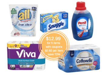 Save $33 and Pay Just $2.60 for All Detergent, Persil, Cottonelle, Viva & Snuggle With Instant Savings Promo at Safeway
