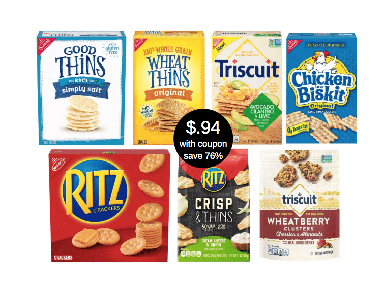 94 Nabisco Ritz Crackers Triscuits Wheat Thins Toasted Chips And Crisp Thins At Safeway Super Safeway