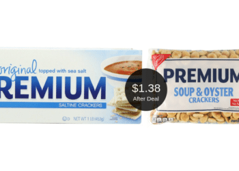Nabisco Premium Saltines or Oyster Crackers for $1.38 at Safeway