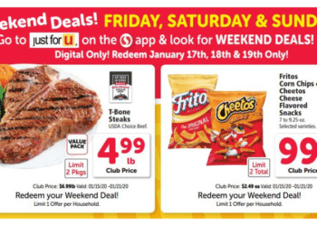 Fritos or Cheetos and T-Bone Coupon Deals Available This Weekend = $0.99 Each & $4.99 Per Pound