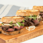 Ultimate Garlic Roast Beef Sandwich Using Top Round Beef Roast