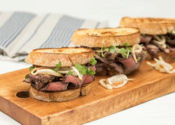 Ultimate Garlic Roast Beef Sandwich Using Top Round Beef Roast