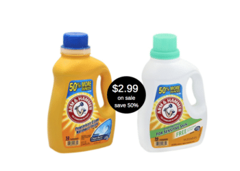Arm & Hammer Detergent Sale, Pay Just 6¢ Per Load at Safeway