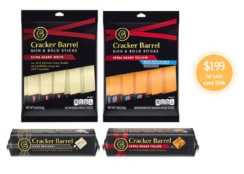Cracker Barrel Cheese Pairing Boards, Sticks & Blocks Just $1.99 at Safeway (Reg. $5.69)