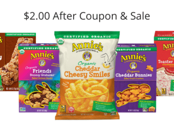 Annie's Homegrown Snacks = $2.00 for Bars, Fruit Snacks, Crackers, & More After The Deal at Safeway