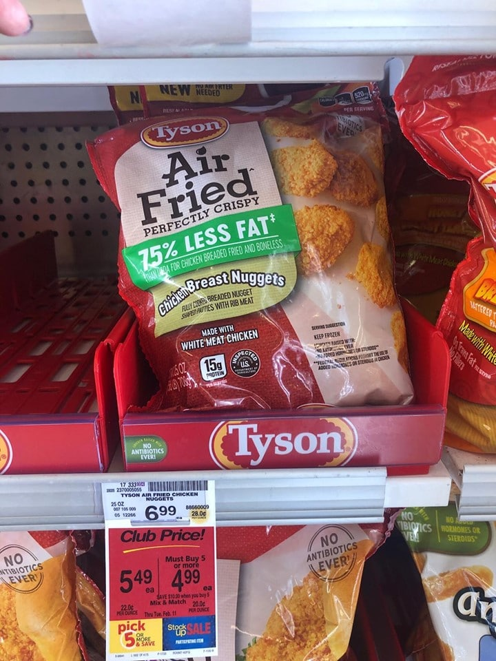 Tyson Air Fried Chicken Breast Strips For 5 74 After The Coupon