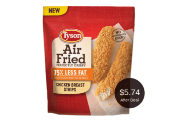 Tyson Air Fried Chicken Breast Strips for $5.74 After the Coupon & Sale at Safeway