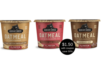 Kodiak Cakes Oatmeal Unleashed Cups Coupon, Pay Just $1.50 for Protein Oatmeal at Safeway