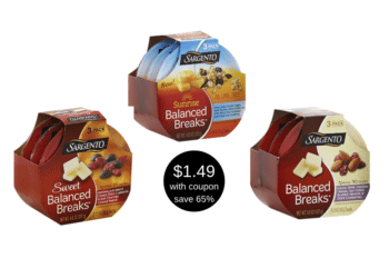 Sargento Balanced Breaks Coupons and Sale, Pay Just $1.49 at Safeway ($0.50 Per Serving)