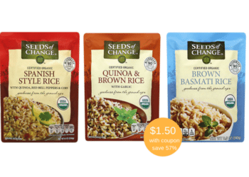 Seeds of Change Organic Rice Pouches Just $1.50 With Coupon and Sale at Safeway