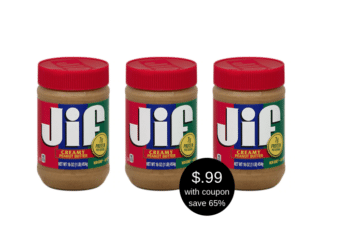 Jif Peanut Butter Only $0.99 at Safeway – Last Day!