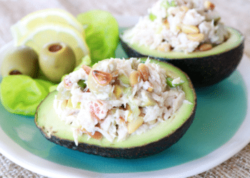 Mediterranean Tuna Stuffed Avocado Bowls