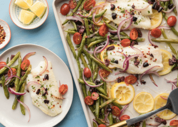 Sheet Pan Roasted Cod With Vegetables