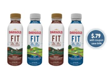 Get 5 Darigold FIT Milk Single Serve Bottles for Just $.79 Each at Safeway (Reg. $2.19)