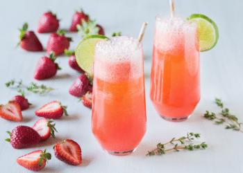 Fizzy Strawberry Mocktail