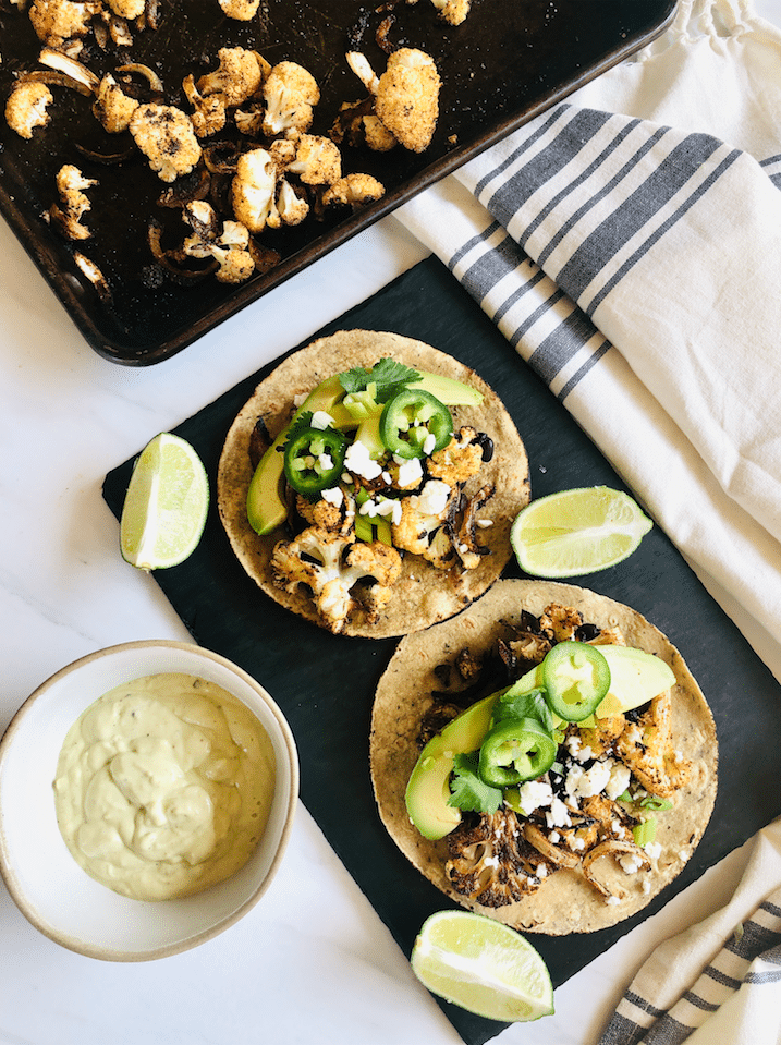 Roasted_Cauliflower_Tacos_With_Green_Chile_lime_Crema