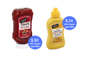 Signature SELECT Mustard $.24 or Ketchup $.50 at Safeway